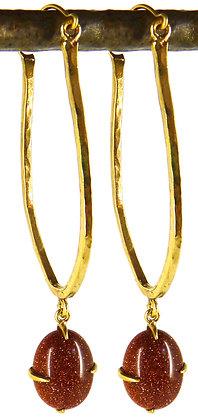 LIVINIA EARRING - goldstone