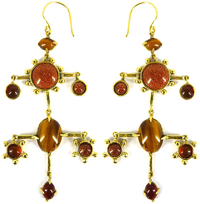 ROYAL DOUBLE DROP EARRING - terra