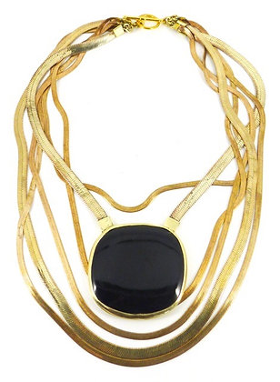 SORAYA NECKLACE - black onyx