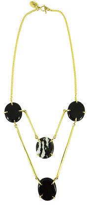 DIONNA NECKLACE - zebra agate & black onyx