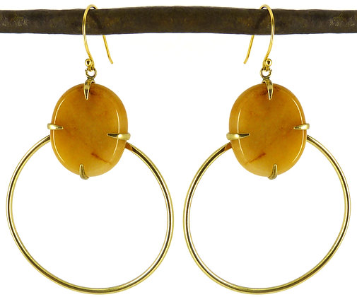 DEANDRA EARRING - yellow jade