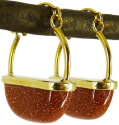 DELIA EARRINGS - goldstone