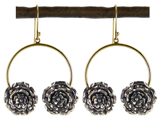 BRIE 2 ROSE EARRING