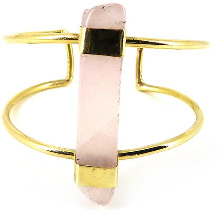 VENTINA CUFF - rose quartz