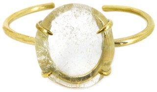 DELFINA CUFF - clear quartz