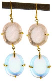 DAMARIA EARRING - rose & opaline quartz