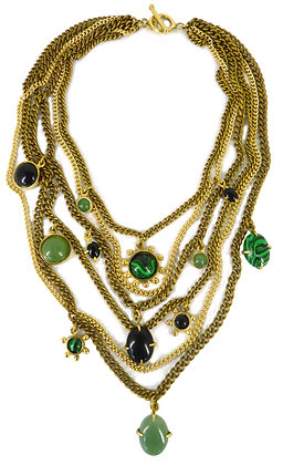 DAMIANA NECKLACE - forest