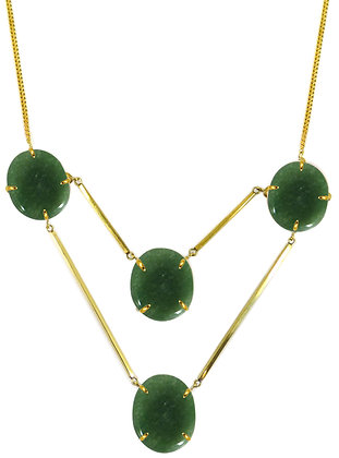 DIONNA NECKLACE - green aventurine