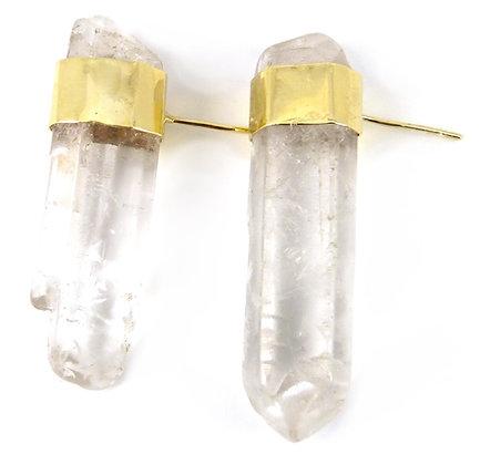 VENETIA STUDS - clear quartz