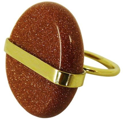 ALDER RING - goldstone