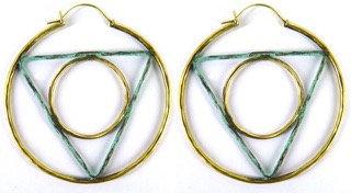GEOMETRIC HOOP - triangle/circle