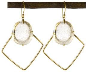 DEANAH EARRING - clear quartz