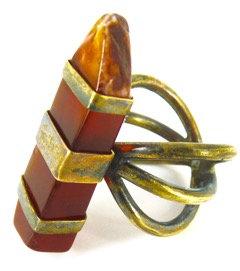 AMBROSIA RING - red jasper