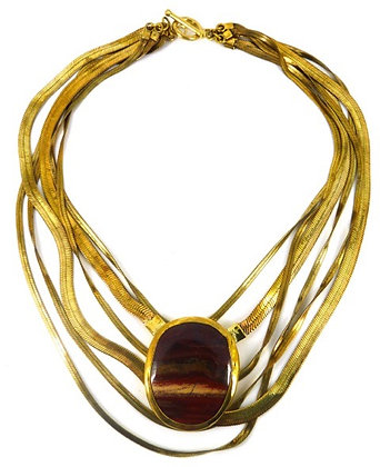 SORAYA NECKLACE - red jasper