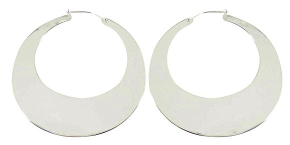 MOONBEAM HOOPS - silver