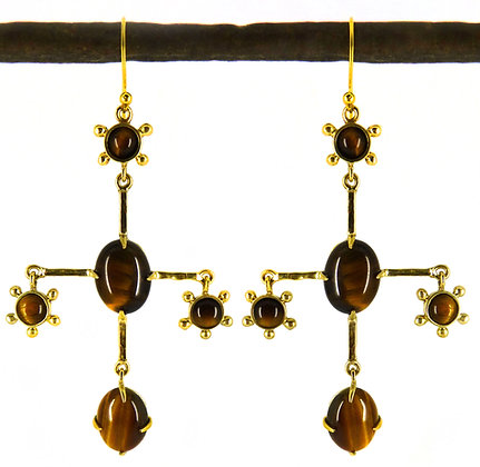 ALARIC EARRING - tigers eye