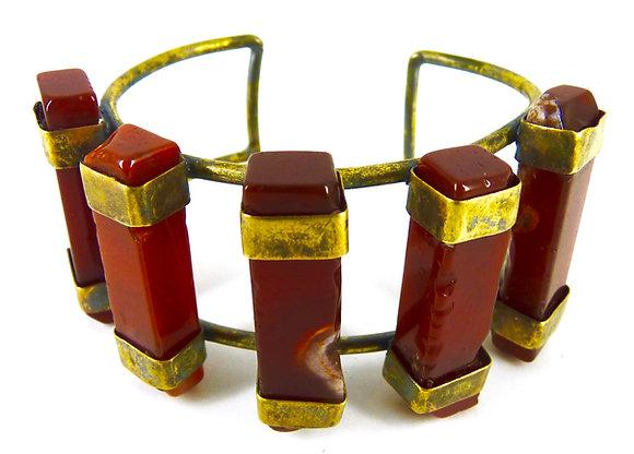 VENETIA CUFF - red jasper
