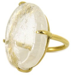 DELFINA RING - clear quartz