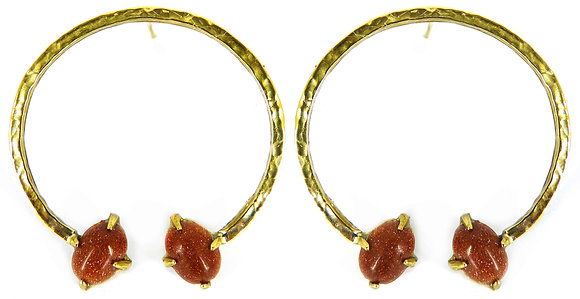 THORA EARRING - goldstone