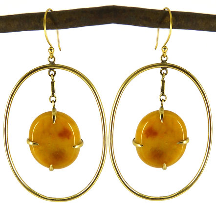 DIMITRIA EARRING - yellow jade