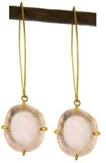 DELFINA EARRING - rose quartz