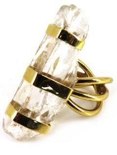 AMBROSIA RING - clear quartz