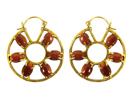 HONORA EARRING - goldstone
