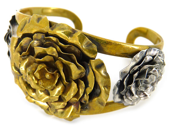 CRYA 3 ROSE CUFF - gold/silver