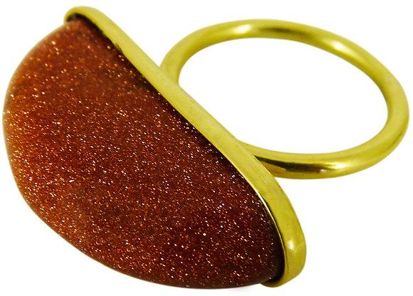AURELIA RING - goldstone