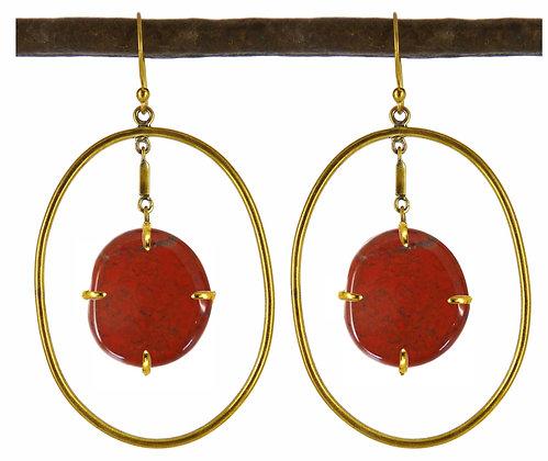 DIMITRIA EARRING - goldstone