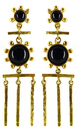 CHANDELIER DROP EARRING - black onyx