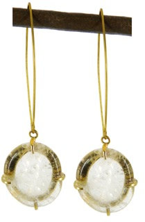 DELFINA EARRING - clear quartz