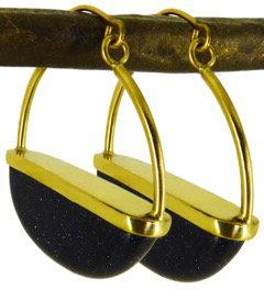 DELI EARRINGS - blue goldstone