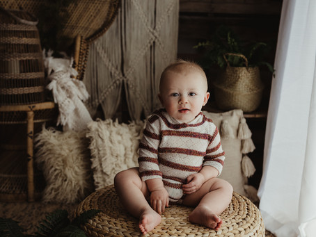 One Year Photoshoot | St. Joseph, MO