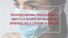 Covid-19 : Protocole national dans les entreprises