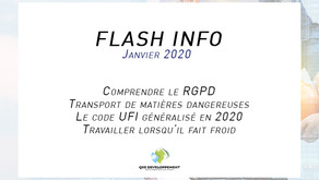 Flash info : Janvier 2019
