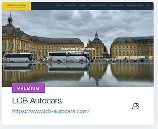 LCB Autocars  Location Autocars & Minibus à Bordeaux  www.lcb-autocars.com creation site internet pour autocar bordeaux