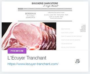 L'Ecuyer Tranchant  Boucherie Charcuterie à Bordeaux  www.lecuyer-tranchant.com creation site internet commerce bordeaux libourne
