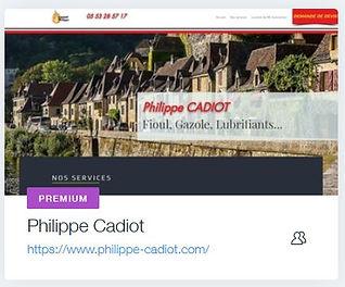 Philippe Cadiot Fioul  Livraison de fioul à Sarlat  www.philippe-cadiot.com creation site internet dordogne et sarlat