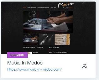 Music'in Medoc  Magasin de Guitare à St Médard en Jalles  www.music-in-medoc.com creation site internet avec boutique en ligne et paiement securise bordeaux