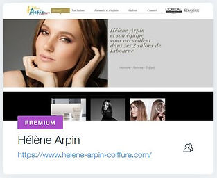 Coiffure Hélène Arpin  Coiffeur à Libourne  www.helene-arpin-coiffure.com creation site internet pour coiffeur libourne agence creation site internet bordeaux