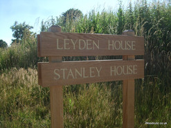 free standing wooden house sign