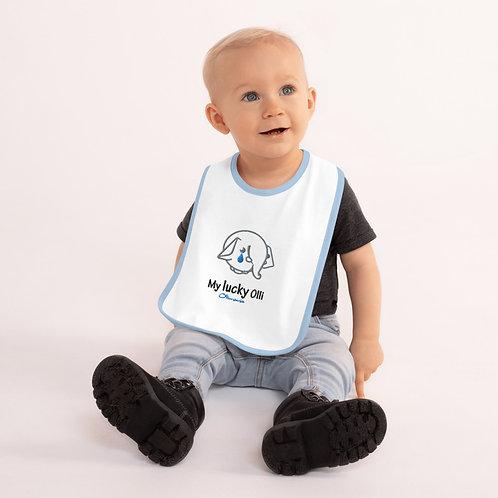 Embroidered Olli Baby Bib