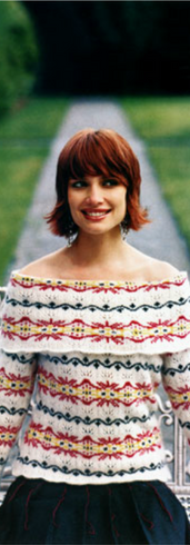 Lace and Fair Isle Pullover