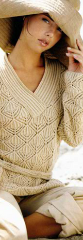Belted Lace Pullover