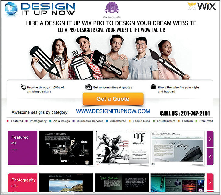 Hire a Wix Pro Designer In NJ