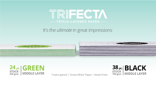 Trifecta triple layered paper for business cards postcards and trifecta triple layered paper for business cards postcards and more designitupnow website graphic design wood ridge bergen county nj reheart Choice Image