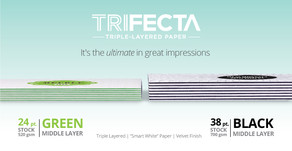 Trifecta Triple Layered Paper for Business Cards, Postcards, and more….