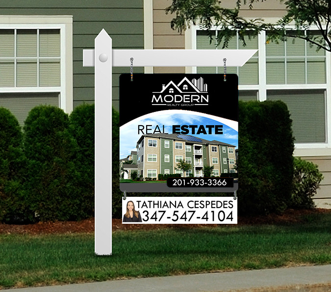 real estate sign printing corrugated plastic