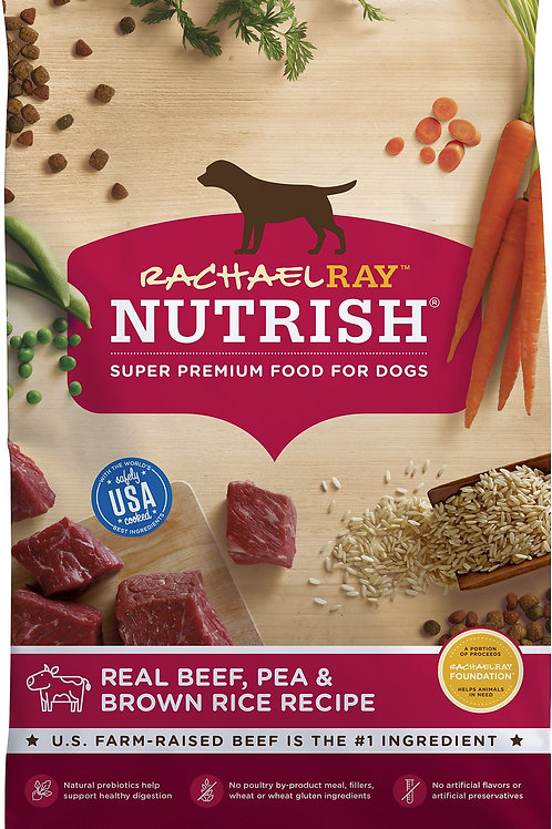 Rachel Ray Nurish Premium - Real Beef, Pea and Brown Rice